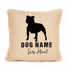 Staffordshire Bull Terrier 'Staffie' Cushion Personalised Gift For Dog