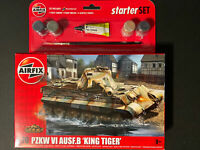 AIRFIX KING TIGER TANK Starter Set - Military - Model Kit - Tank