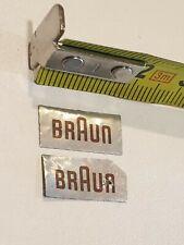 2 x Original vintage logo BRAUN,   enceinte SPEAKER occasion