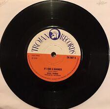 NICKY THOMAS If I Had A Hammer Lonely Feelin TROJAN TR7807 1970 VINYL EX+