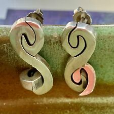 Mid Century Modern Sterling Silver Articulated Earrings