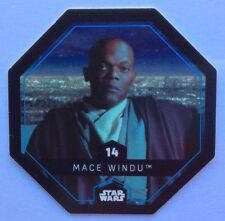 STAR WARS Jeton 14 MACE WINDU Cosmic Shells E.Leclerc Collector Image