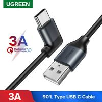 Ugreen 90 Degree USB Type C Cable 3A Fast Charging Data Cable for Samsung S8 LG
