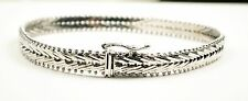 14k White Gold Fancy Chain Ladies Bracelet