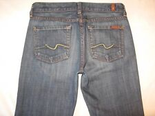 7 for all Mankind Womens Bootcut jeans Dark Distressed 100% Cotton Sz 26