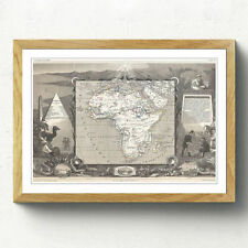 Multi-Colour Vintage Map Art Prints