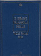 LIBRO UFFICIALE POSTE SENZA FRANCOBOLLI BUCA LETTERE 1991 TASCHINE DA MONTARE