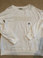 Abercrombie And Fitch Womens White Sweatshirt Top Medium Nwt