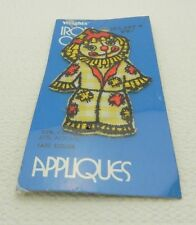 New listing Vtg 1970 Wright's Iron On Appliques Scarecrow Clown Embroidered Patch New Sealed