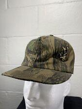 Vintage Trebark Camo Hunting Hat VTG 80s Camouflage Cap Tree Bark Ear Flap USA