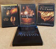 Set of 4 M. Night Shyamalan Dvd Movies Lot Village Signs Sixth Sense Unbreakable