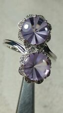 sz 8.25 PURPLE LAVENDER QUARTZ DESIGNER TGGC STERLING SILVER RING great gem co.