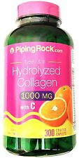 300 Caplets Hydrolyzed Collagen 1000/6000 mg Hair Skin Nail Care Vitamin C Pill