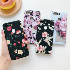 For Samsung Note 10 Pro 9 8 S10 S9 S8 Plus Phone Case Matte Hard Floral Graffiti