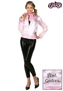Women's Grease Pink Ladies Jacket Costume SIZE XS S M L 5X (Used)