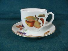 Royal Worcester Evesham Gold Cup and Saucer Set(s) Made in England