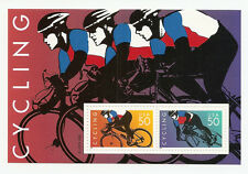 USPS  Cycling Sheet two 50cent stamps 1996 Scott # 3119