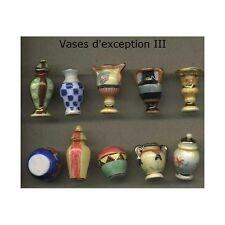 Série complète de 10 fèves Vases d'exception III