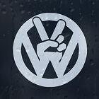 Peace sign Car Laptop Decal Vinyl Sticker VW Golf Jetta Passat Bora Scirocco GTI
