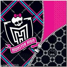 MONSTER HIGH LARGE NAPKINS (16) ~ Skull Birthday Party Supplies Luncheon Dinner