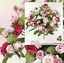 "Four 17"" Artificial Rose Daisy Flowers Silk Plants 405"