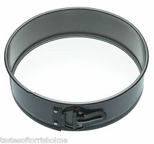 Master Class 10 Inch Non Stick Round Spring Form Cake Tin - Glass Base & Stand