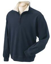 NEW Men Size XXXXL 100% Pima Cotton Warmup Shirt Jacket Jumper 4XL NAVY BLUE NWT