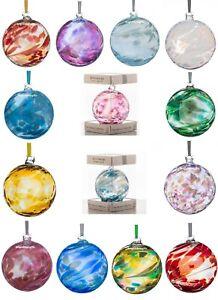 Sienna Glass - MOUTH BLOWN BIRTHSTONE BALL - Choose Your Month Birth Stone