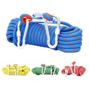 10mm Safety Static Outdoor Climbing Rope Rock Rappelling Cord Escape Rescue Gear