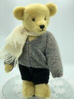 Vintage Artist, Handmade Teddy Bear, 15' Tall, Knitted Outfit, Jointed, New