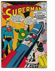 SUPERMAN 170 - VG/F 5.0 - LEX LUTHOR - JOHN KENNEDY - SUPERGIRL (1964)