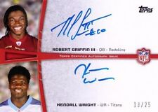 ROBERT GRIFFIN RGIII & KENDALL WRIGHT Topps 2012 Rookie Premiere Dual Auto 13/25