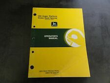 John Deere 300 Auger Platform Grass Seed Special Operator's Manual  OME81748