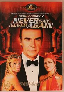 Never Say Never Again DVD - SEAN CONNERY (PAL, 2003) RARE - Free Post