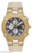 Aqua Master Men's Gold-tone Case Black Dial 024ct. Diamonds Bezel Watch W#114
