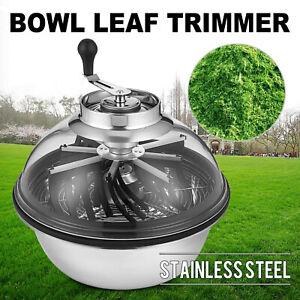 16'' Tumble Leaf Trimmer Ernte Cutter Bowl Hydroponics Spinner Erntemaschine