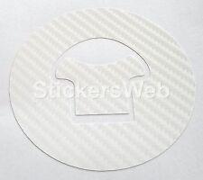 Adesivo Tappo Serbatoio HONDA Hornet 250 CB250 (Carbonio Bianco) Cod.0514