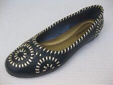 Pierre Dumas Womens Shoes $42 Gloria Navy Blue Woven Ballet Flat 9 M
