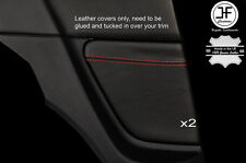 RED  STITCH 2X REAR  SIDE PANEL TRIM LEATHER COVERS FOR MAZDA RX8 03-12 STYLE 2