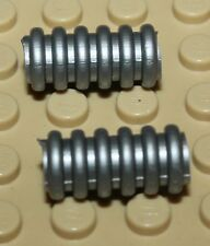 Lego 2x 78c02 flat silver 2L Technic Ribbed Hose 8466 10188 75159 4404 [1-25-3]