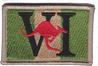 6RAR Unit Colour Kangaroo Patch on Khaki background