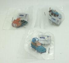2010 Vancouver Olympics Pin Visa Mascots Sumi Quatchi   Miga Lot Of 3