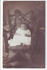 Vintage Postcard - Baby in Chair (Studio Set) - Unposted 2729