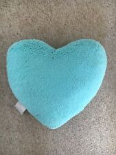 Girls Turquoise Heart Bedroom Cushion