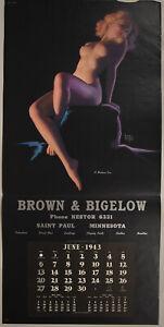Vintage 1943 Nude Earl Moran Brown & Bigelow Pin-Up Calendar Sample A Modern Eve