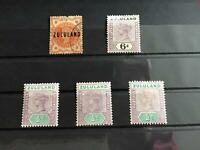 Zululand 1888-94 mounted mint and used   stamps   R26723