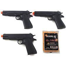 3 PACK AIRSOFT M1911 SPRING HAND GUN PISTOL w/ 1000 6mm BBs BB