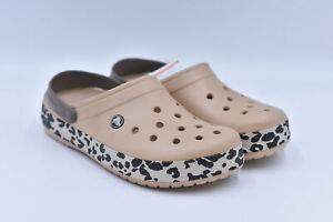 Women's Crocs Crocband Leopard Slip On Clogs, Gold / Black Leopard, 11M