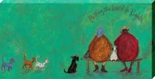 Sam Toft Putting the World to Rights Large Canvas Print 50 x 100cm