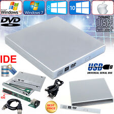 External USB To IDE CD DVD ROM RW Drive Caddy Cover Case For Notebook Laptop PC